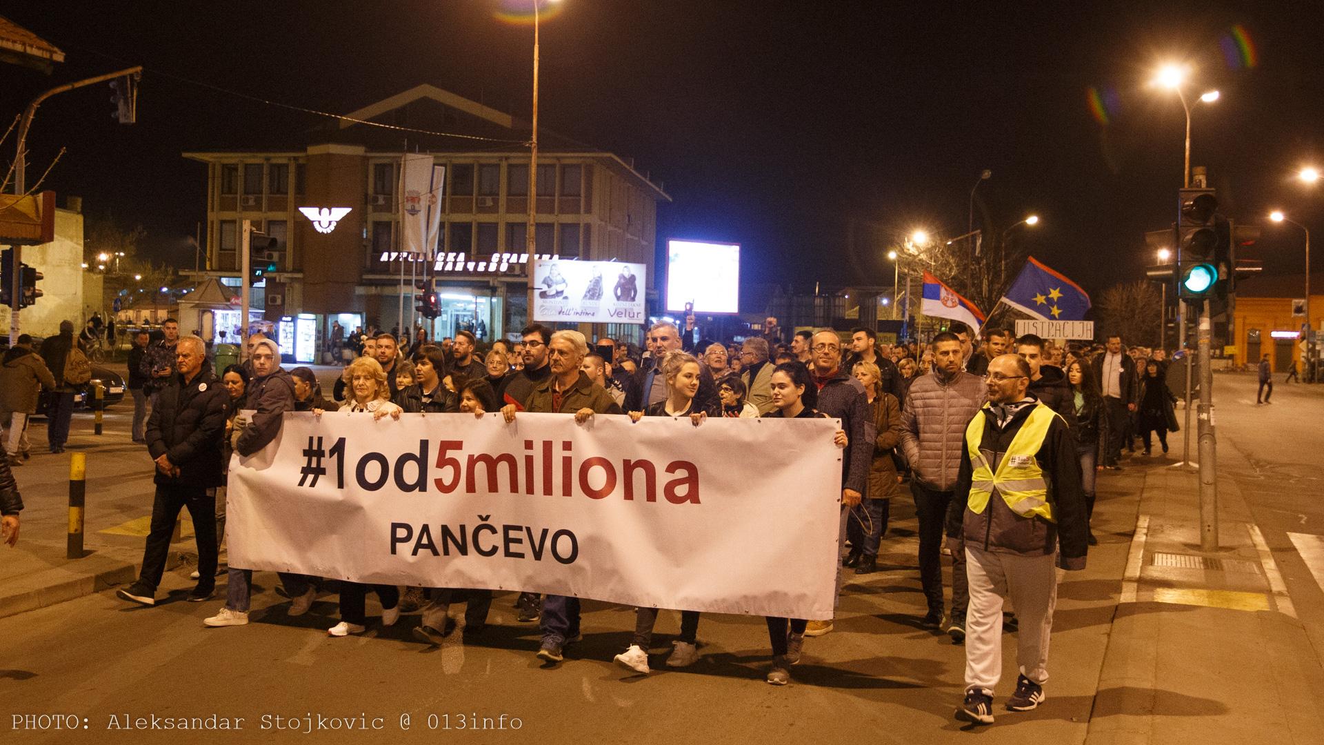 Protest u Pančevu 22. marta