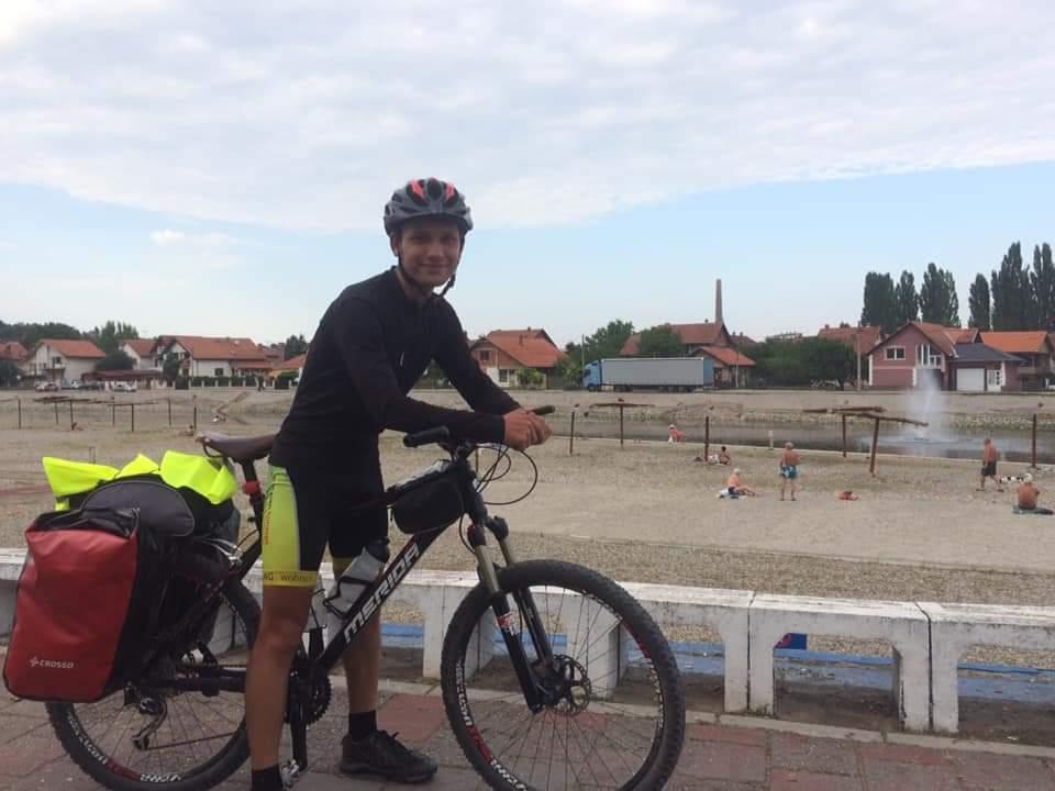 Miroslav Milošev na biciklu