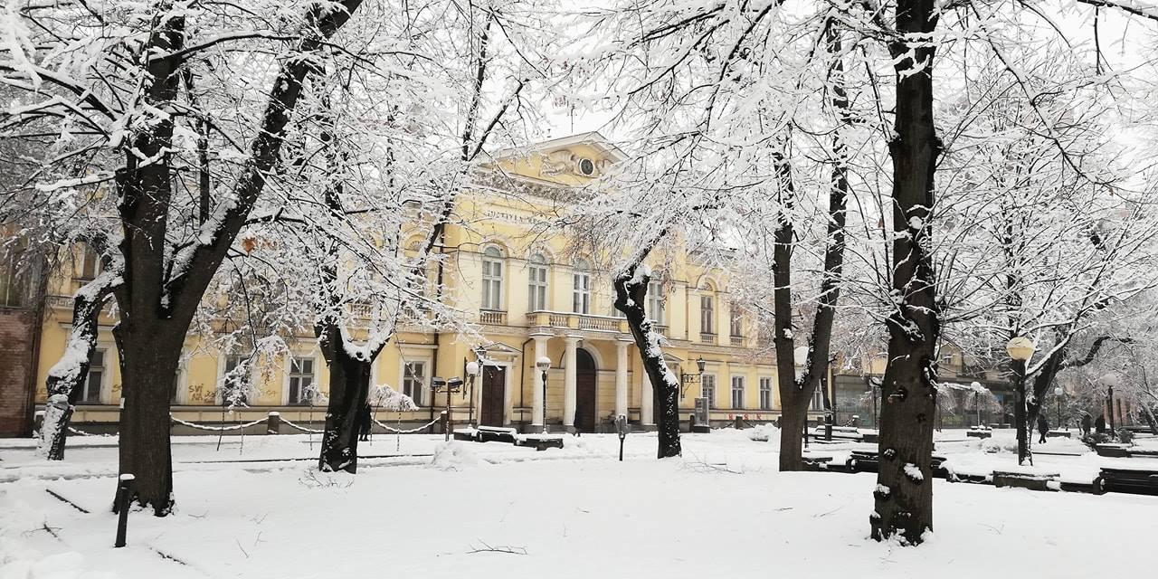 Narodni muzej Pančevo, sneg