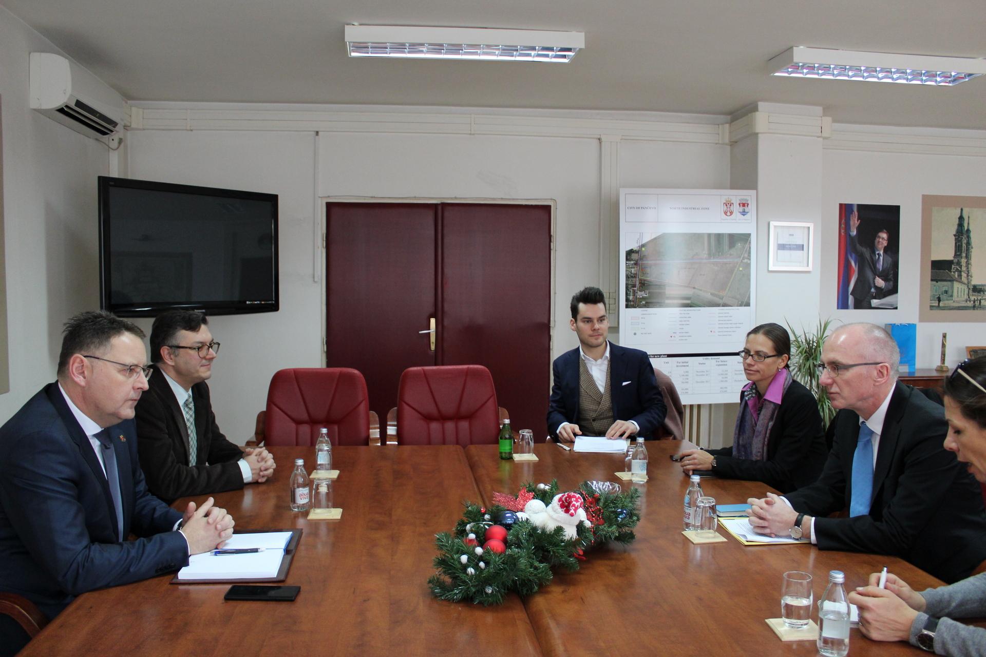 Nemački ambasador Tomas Šib u poseti Pančevu