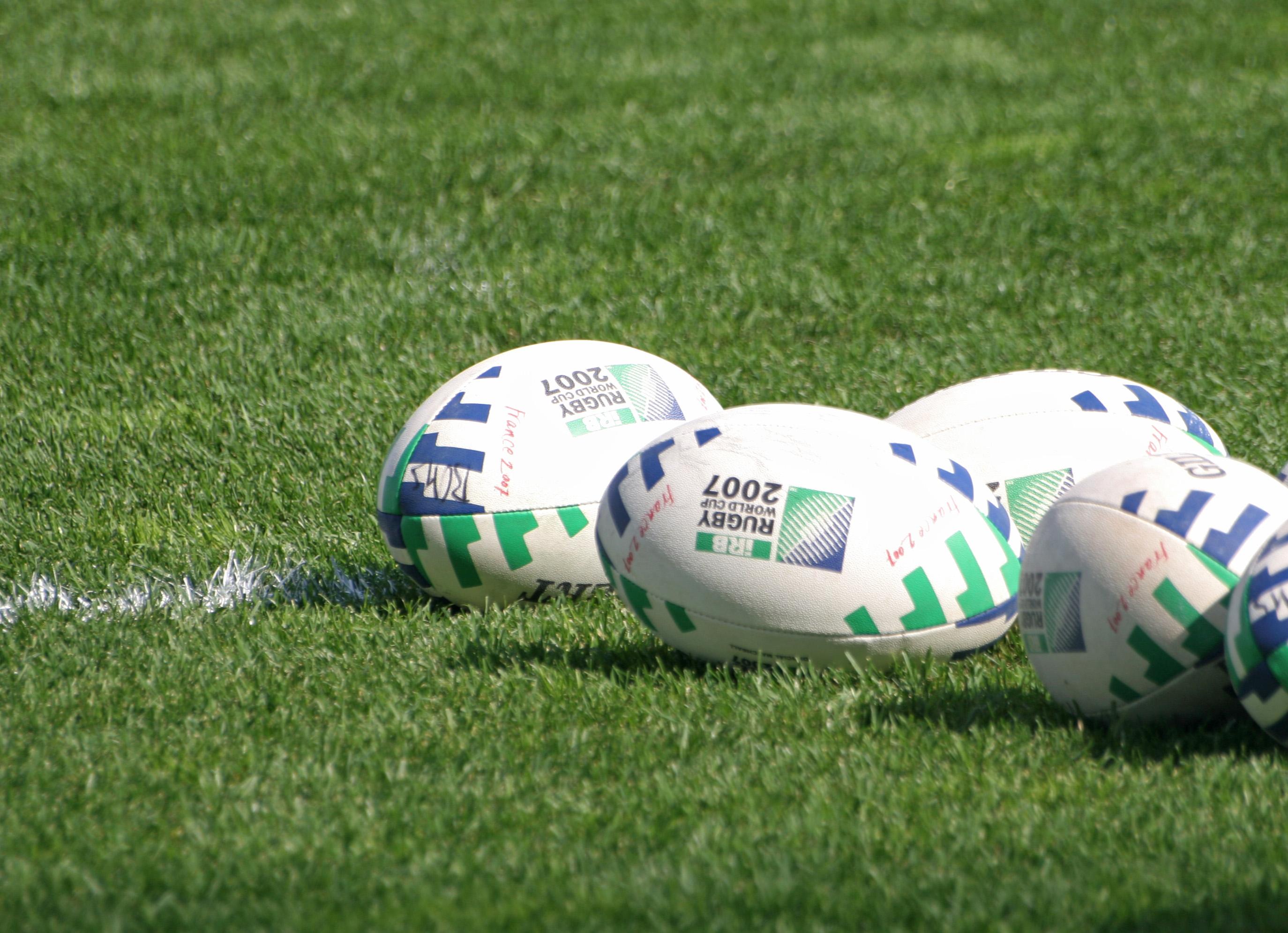 Ragbi lopta na travi
