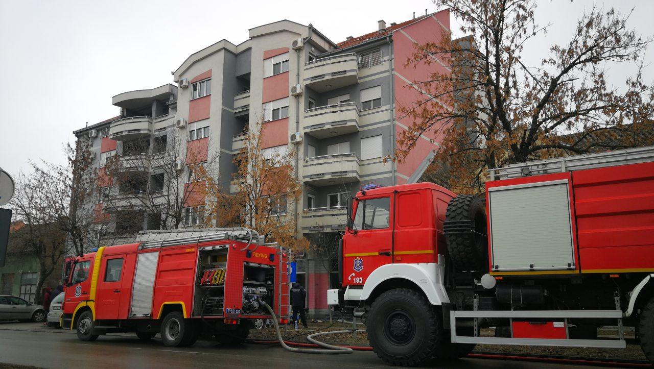 Požar u Ulici Lava Tolstoja u Pančevu