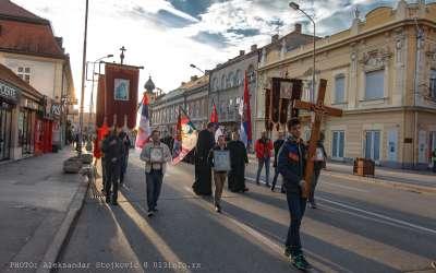 Moleban i litija za podršku narodu i sveštenstvu Crne Gore februar Pančevo