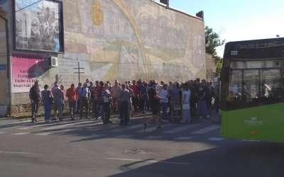 Blokada autobuske stanice u Pančevu
