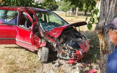 Automobilom u drvo u Jabuci