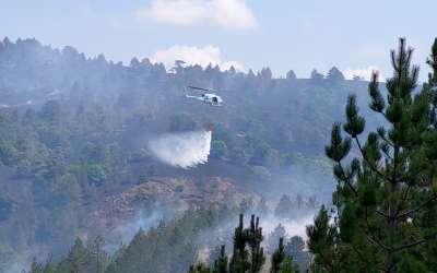 Gašenje požara na Mokroj Gori
