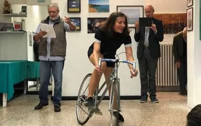 Slobodanka Olar na biciklu