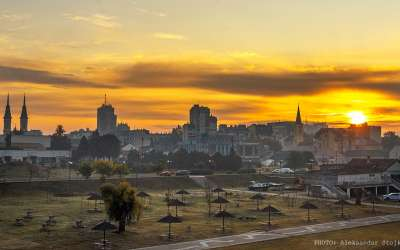 Izlazak sunca iznad Pančeva