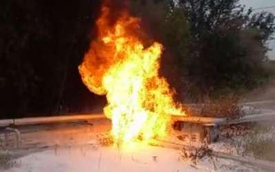 Požar na cevovodu Rafinerije