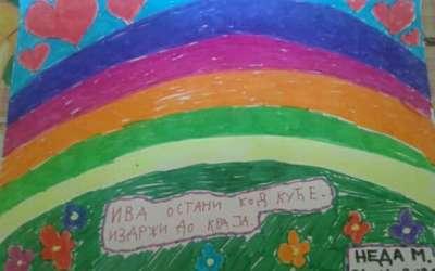 Slika podrške devojčici Ivi