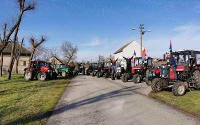 Traktori u Brestovcu za Božić