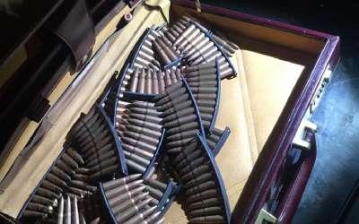 Zaplenjena municia na Merdaru