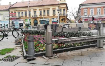 Stubić  na Trgu Slobode Pančevo